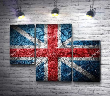 Флаг Англии нарисован на металлической поверхности