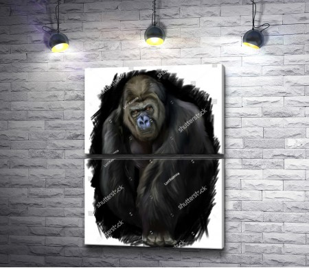 Черная ночь и горилла