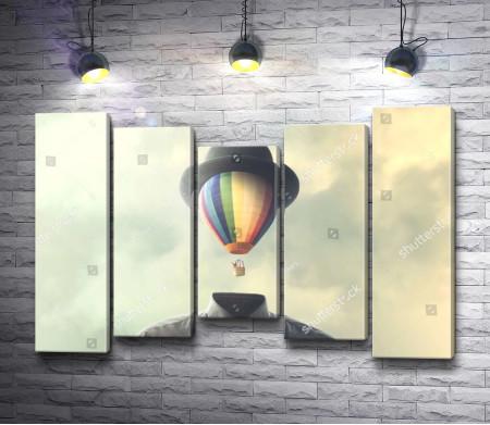 Представление о воздушном шаре. Винтажное фото