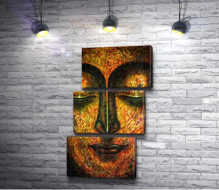 Лицо Будды. Золотая роспись
