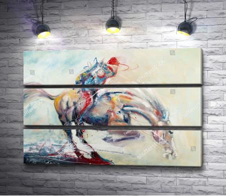 Лошадь скачет галопом