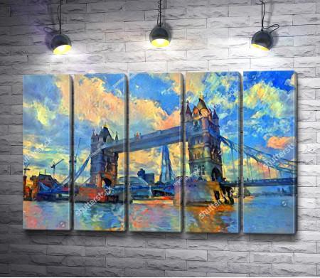 Утро в Лондоне. Тауэрский мост