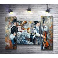 Трио музыкантов. Джазовые ритмы
