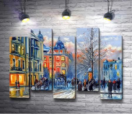 Зима на Киевских улицах