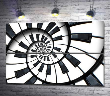 Пианино. Клавишная спираль