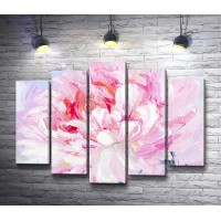 Бело-розовый пион