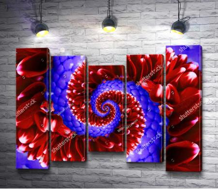 Цветочная абстракция. Спираль