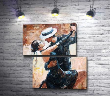 Танцоры, влюбленные в танго
