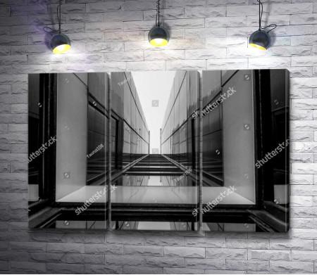Дизайн здания. Черно-белое оформление