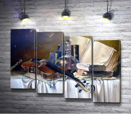 Натюрморт со скрипкой и графином