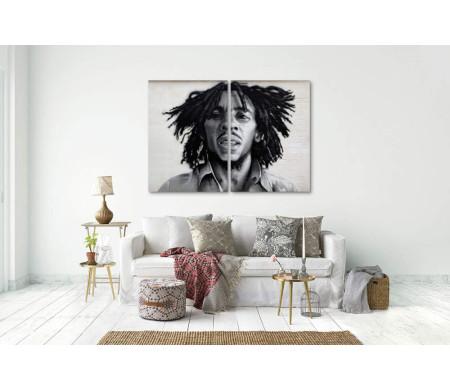 Музыкальная легенда Боб Марли. Черно-белое фото