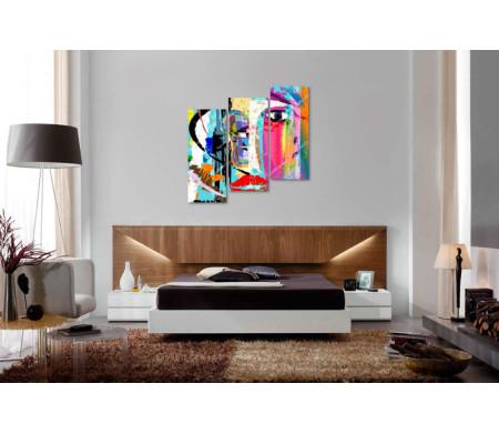 Разноцветное лицо в абстракции
