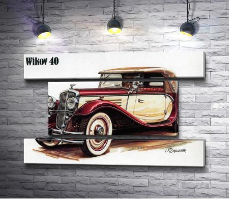 Постер ретро авто Wikov 40