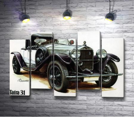 Ретро автомобиль Tatra 31, постер