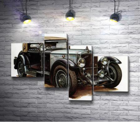 Ретро автомобиль Wikov 35, постер