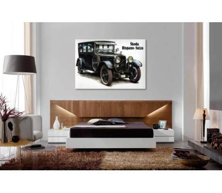 Ретро автомобиль Skoda Suiza, постер