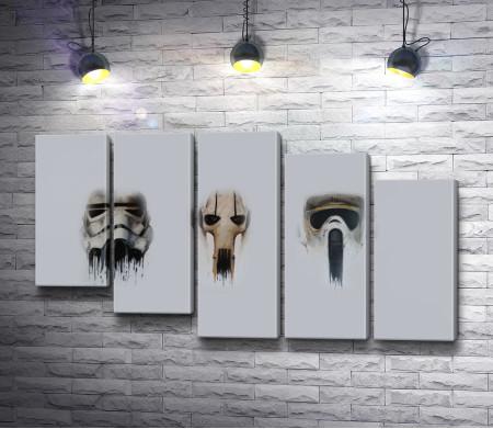 """Шлемы роботов из фильма """"Звездные войны"""""""