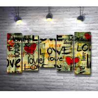 """Постер со словом """"Love"""""""