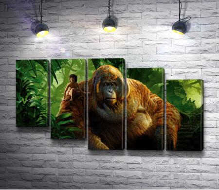 """Маугли и король обезьян, кадр из фильма """"Книга Джунглей"""""""