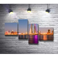 Вид на всемирный торговый центр в Манама-Сити, остров Бахрейн Бэй