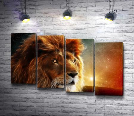 Лев с шикарной гривой