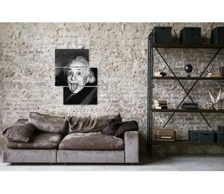 Знаменитое фото Альберта Эйнштейна,  черно-белая гамма