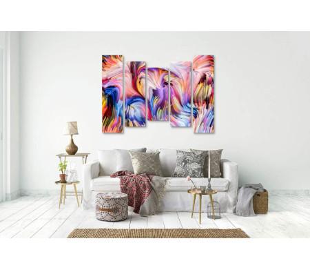 Разноцветные волны, абстракция