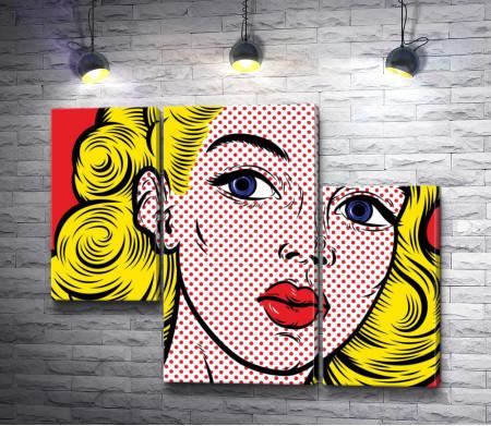 Блондинка с красными губами