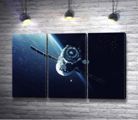 Космический аппарат в открытом Космосе