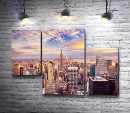 Обзорный вид на Манхеттен, Нью-Йорк