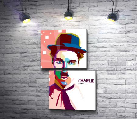 Портрет Чарли Чаплина. Арт