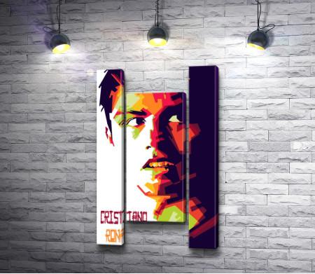 Арт-портрет футболиста Криштиану Роналду