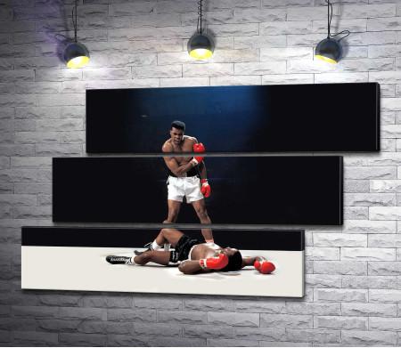 Боксер Мохаммед Али против Сонни Листона