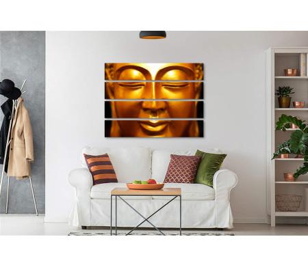 Будда. Золотой лик крупным планом