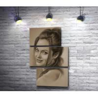 Анджелина Джоли. Графический портрет