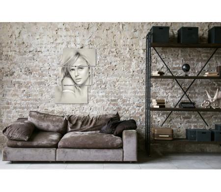 Графический портрет Шарлиз Терон