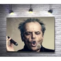Голливудский актер Джек Николсон с сигарой