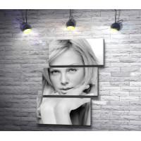 Черно-белый снимок Шарлиз Терон