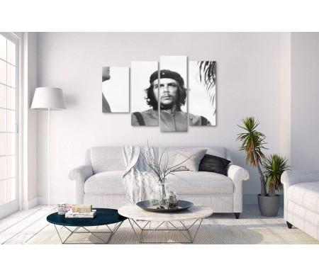 Кубинский революционер Че Гевара. Черно-белый снимок