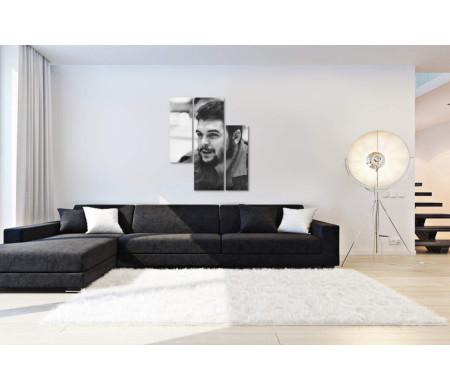 Черно-белый портрет Эрнесто Че Геваро