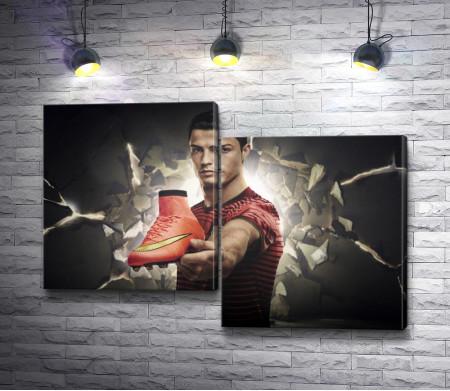 Криштиану Роналду и кроссовок Найк (Nike)