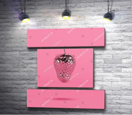 Хромированная розовая арт-клубника