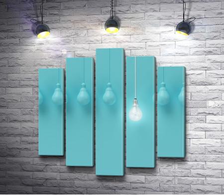 Лампочки голубого цвета