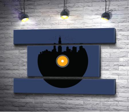Музыкальная пластинка - город
