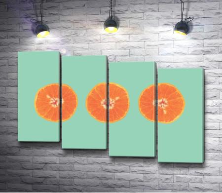 Половинки апельсинов