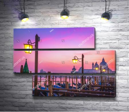 Розовый закат Венеции