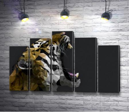 Геометрическая голова тигра