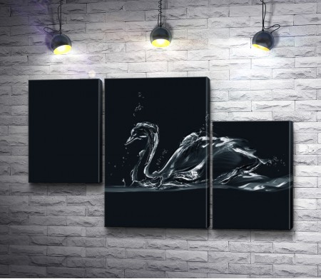 Лебедь из воды