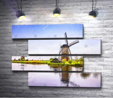 Мельница возле канала. Голландия