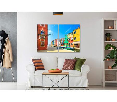 Разноцветные дома на острове Бурано, Венеция